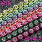 AB Colorful SS8 Crystal Rhinestone Banding Sew-on Supplies, Single Line Plastic Cup Rhinestone Trimming