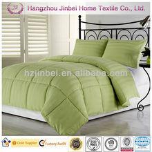 Green Solid 3cm Stripe Polyester Quilt/Microfibre Comforter/Down Alternative Duvet