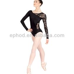 Performance leotard with lace/ballet dancing leotard/adult dance leotard EPLT-009
