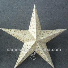 2014 popular five pointed star paper lantern