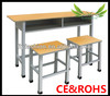 Wooden primary school furniture desk and chair for sale