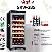 Srw-28s 28-bottle compresor bitzer cuarto frío para gabinete del vino