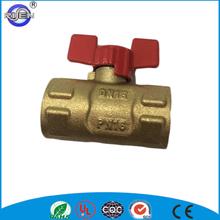 butterfly aluminum alloy handle total brass ball valve