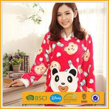 100% polyester women coral fleece sleepwear