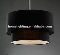 "P-399 Lamp 2 Tier 20"" Drum Lamp Shade Indian Chandelier lighting pendant Fixture White / Black / Flaxen"