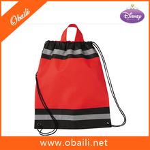 Promotional Non Woven Polypropylene Reflective Drawstring Cinch Backpack/Gift Bag / Gym Bag