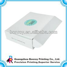 Die cut small wax printed custom decorative paper packaging corrugated box