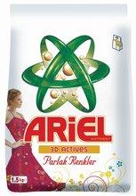 Ariel en polvo detergente 1.5 KG colores brillantes