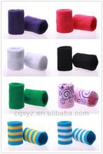 Sports elastic cotton fabric custom wristband cheap