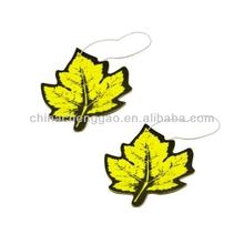 leaf shape custom design car paper air freshener