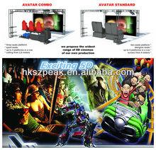 2015 interesting 5D cinema 3D cartoon movies