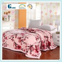 Flannel fleece air conditioner bed sheet set blankets