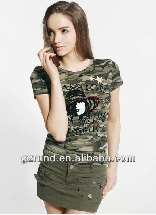 Camouflage T-shirt Female