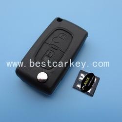 Topbest 2 button car key replacement for car key Peugeot Peugeot key case