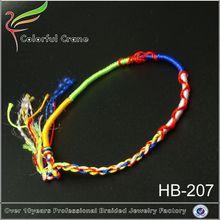Soft dreads nylon braided bracelet pulsera de piedras preciosas