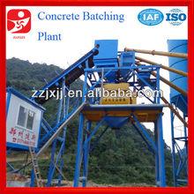self loading concrete mixing plant