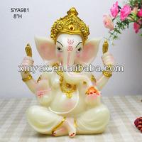 2015 top sale marble look Ganesh Idol statues