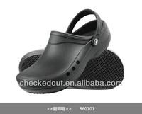 non-slip shoes/black vent shoes#shoes with six vent holes&+the latest upgrade version shoes<vent chef shoes