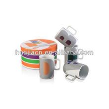 HJBD052-265 Cheap Decal high quality Porcelain V-shape Mug