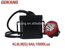 KL6LM(G) led coal miners cap lamp 15000Lux 3.7V 6Ah