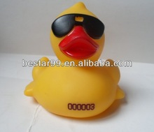 sunglasses bath rubber duck with serial number printing
