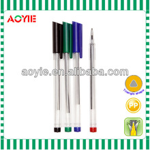 New and hot unique Triangle shape ball pen stick ball pen with clip