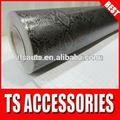 Le certificat de rohs tsautop 1.52*30m bulles d'air libre noir peau de serpent python en fibre de carbone pour la voiture envelopper vinyle
