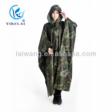 Army green camouflage square poncho