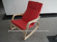 cheap bentwood rocking chair with printing letter fabric
