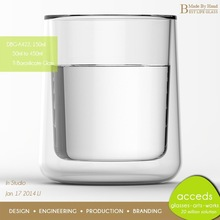 Superior Quality Ti-Borosilicate Heat Resistant Drinking Water Glass