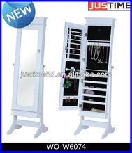 wooden jewelry armoire, jewelry display case,ESPEJO CLOSET