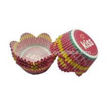 flower shaped custom printed recycled decorative paper cupcake liner tulip muffin baking cups