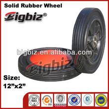 12 inch solid kids trike rubber idler wheels factory