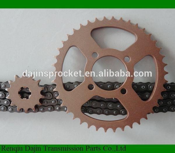 Dajin1045เหล็กอลูมิเนียมสำหรับรถจักรยานยนต์/เฟืองรถจักรยานยนต์สำหรับฮอนด้า125คลื่น