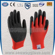 SEEWAY working gloves Latex coated Nylon knitted finger gloves