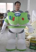 la costumbre de buzz lightyear traje de la mascota de adultos de buzz lightyear de vestuario
