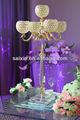 gorgeous 5 ouro braços candelabros de casamento mesa de centro de peças