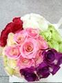Rosa fiori di nozze, ingrosso fiori artificiali made in china, fiori finti