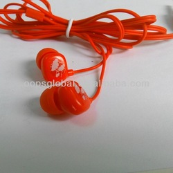 High quality fashionable colorful cheapest earphone for iphone 5