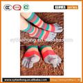 Menina moda cinco meias dedo/algodão meia toe cinco, lovely cartoon menina de cinco meias toe