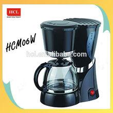 4 to 6 cups Plastic body Glass carafe coffee maker machine