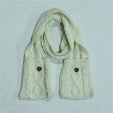 2014 High Quality Ladies Knitting Pattern Pocket Scarf