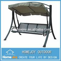 Luxury 3 seat outdoor metal swing