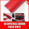 Tsautop qualtity alta de carbono 4d vinyl\decals fib para cars\car juguete de papel de aluminio de color rojo