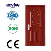 Zhejiang flush wood interior bathroom PVC wooden door