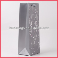 Wholesale hot stamping recycle paper wine tote bag