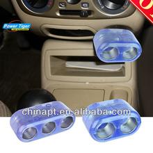 3 in 1 universal Car Cigarette Lighter With Transparent Socket