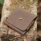 business leather holder card case bag card folded leather wallet