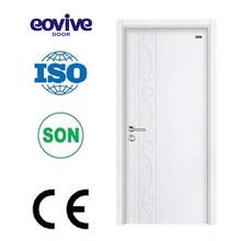 beautiful design water-resistant painted mdf wood pvc toilet bathroom doors