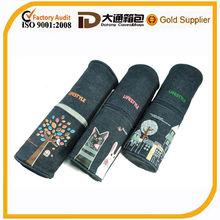 2014 Cheap Pencil Cases Canvas Zipper Pencil Bag Round Pencil Case
